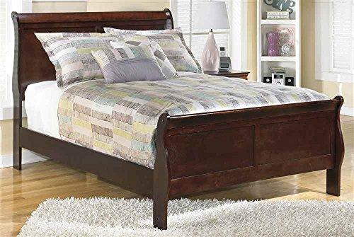 Full Sleigh Bed in Dark Brown Finish - Full Sleigh Bed