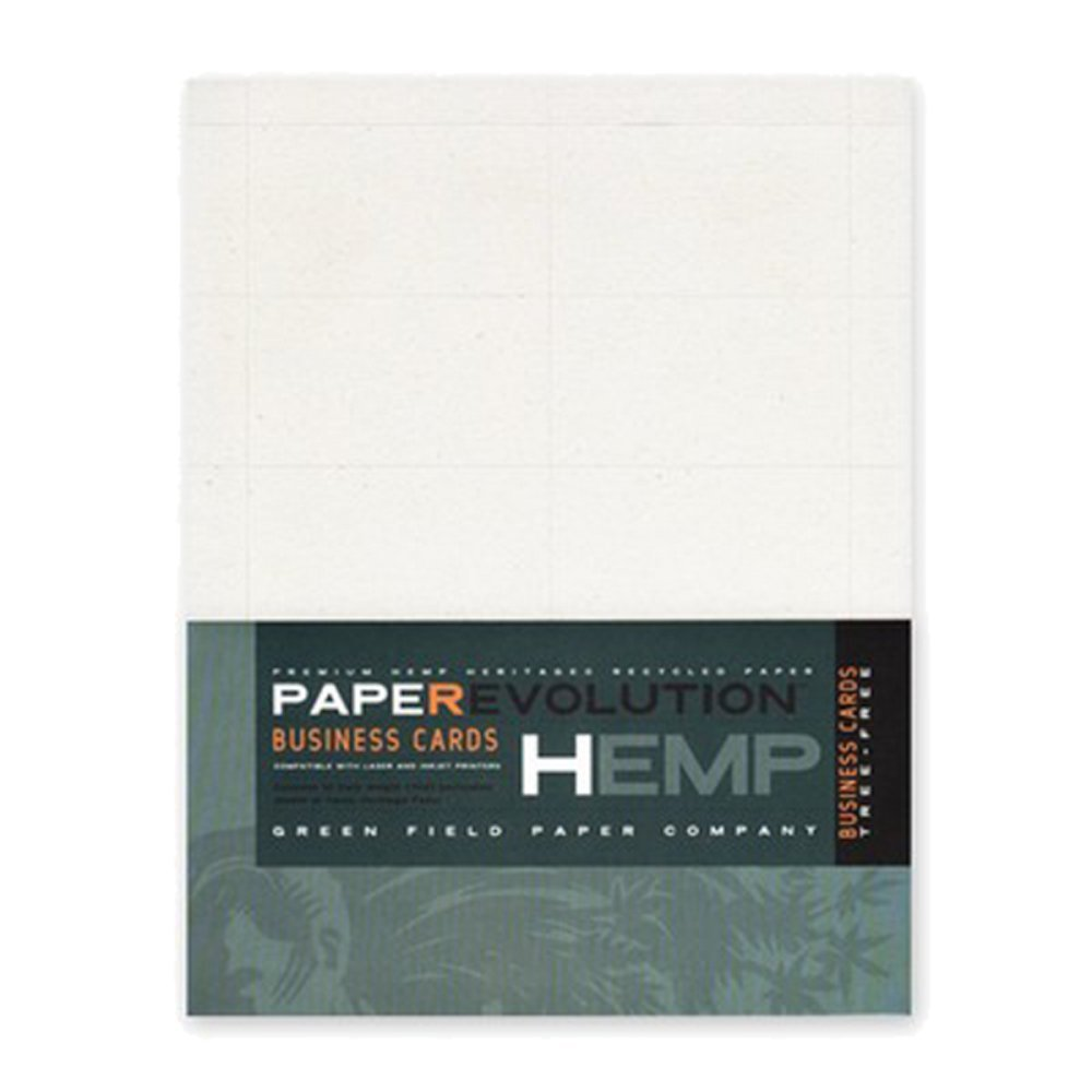 Amazon.com : Hemp Heritage Business Cards-100 laser perforated ...