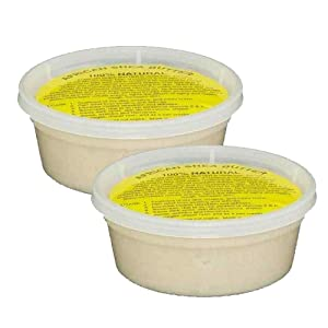 """REAL African Shea Butter Pure Raw Unrefined From Ghana""""IVORY"""" Container (8oz Pack Of 2)"""