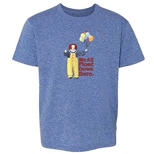 Pop Threads Clown Float Down Here Minimalist Halloween Costume Heather Royal Blue 6 Toddler Kids T-Shirt -
