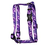 Yellow Dog Design Camo Purple Roman Style H Dog Harness Fits Chest Circumference Of 28 To 36'', X-Large/1'' Wide