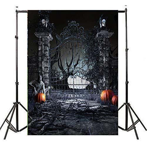 Photography Background, Elevin(TM) Halloween Backdrops Pumpkin Vinyl 5x3FT Lantern Background Photography Studio -