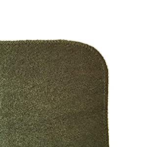 """EKTOS 90% Wool Blanket, Olive Green, Warm & Heavy 4.0 lbs, Large Washable 66""""x90"""" Size, Perfect for Outdoor Camping, Survival & Emergency Preparedness Use"""