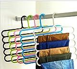 Totam Multipurpose Hanger For Shirts , Ties , Pants Space Savinghanger, Cupboard Organiser, Strong - (2 Pc)