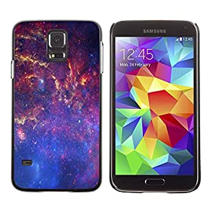 Caucho caso de Shell duro de la cubierta de accesorios de protección BY RAYDREAMMM - Samsung Galaxy S5 - Espacio de la galaxia Vía Láctea