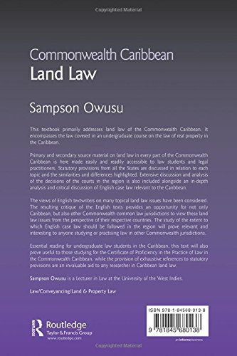 Commonwealth Caribbean Land Law (Commonwealth Caribbean Law)