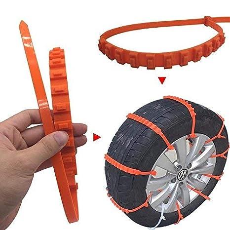 Zeagro - Juego de 10 Cadenas Antideslizantes para neumáticos de Coche o camión: Amazon.es: Hogar