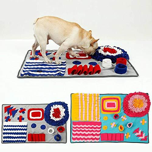 L Dream-Zone Dog Feeding Mat, Dog Smell Snuffle Mat Rug Training Blanket Pet Feeding Mat Play Mat Bed(S, L)