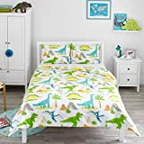 Bloomsbury Mill Dinosaur World - Kids Bedding Set - Double Duvet Cover and 2 Pillowcases