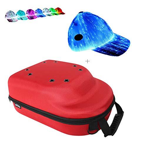 e10d92f46ea GALEXBIT Baseball Hat case Cap Carrier Case Holder for 6 Caps Hat bag for  Travel with a Hat