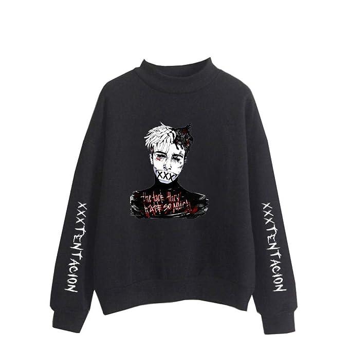 Unisex Xxxtentacion Sudaderas Camisetas de Manga Larga Moda Sudadera Suéter Cuello Alto Suéter para Hombre y Mujer Jersey: Amazon.es: Ropa y accesorios
