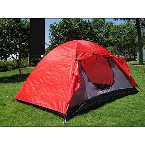 Outdoor-Camping zwei Schichten Glasfaser Pole Ployester Zelt