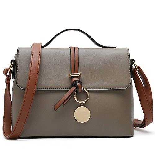 Handbag For Designer Cross Ladies Shoulder Stylish Body Fashion Purses Women Grey Bag 4HUWq6Swv