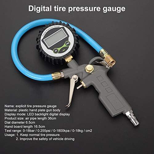自動車の空気空気圧ツール用タイヤ空気圧銃金属タイヤ空気圧ゲージタイヤテーブルインフレーター銃を膨らませるタイヤ-多色