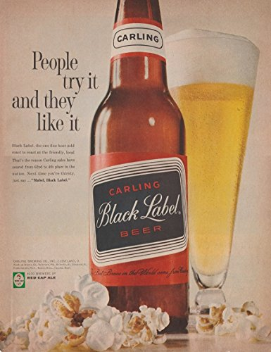 1961-carling-black-label-beer-with-pop-corn-people-try-it-and-they-like-it-large-vintage-color-ad-us