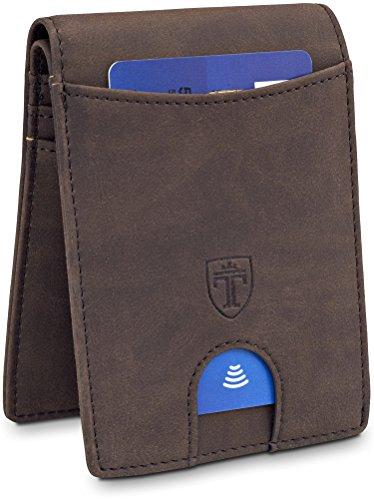 TRAVANDO-Slim-Wallet-for-Men-BUFFALO-RFID-Blocking--8-Card-Slots--Bill-Compartment--Vintage-Design-Front-Pocket-Minimalist