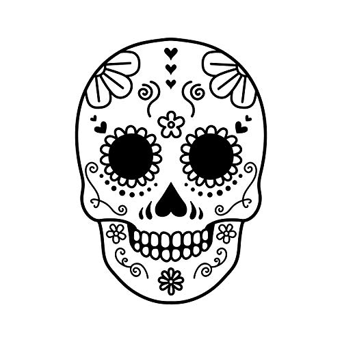 Vinyl Wall Art Decal - Day of The Dead Skull - 21