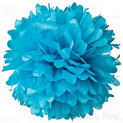 [10 Inch Tissue Paper Flower Pom Poms, Pack of 10, Blue] (30 Second Costumes)