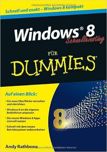 Windows 8 Schnelleinstieg für Dummies (German Edition)