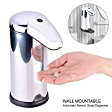 TOPINCN Automatic Touchless Stainless Steel Auto-soap Dispenser with Waterproof Base