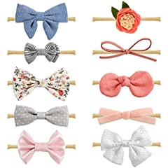 Each of our baby headbands are created with QUALITY in mind - The hairbands are made with super soft, light and stretchy nylon fabric, using non toxic glues & sewing wherever possible to reduce the use of chemicals in our products and kee...