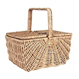 Household Essentials ML-2200 Dorothy Market Picnic Basket with Fixed Handle, Brown
