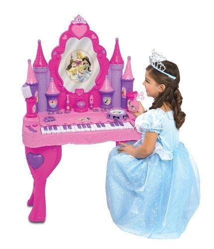 Disney Princess Enchanted Musical Piano Keyboard Magical Interactive Vanity Salon Girl Toy (Disney Princess Keyboard)