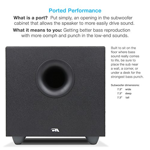 Cyber Acoustics 2.1 Speaker Sound System with Subwoofer and Control Pod - Great for Music, Movies, Multimedia PCs, Macs, Laptops and Gaming Systems (CA-3370A) by Cyber Acoustics (Image #3)