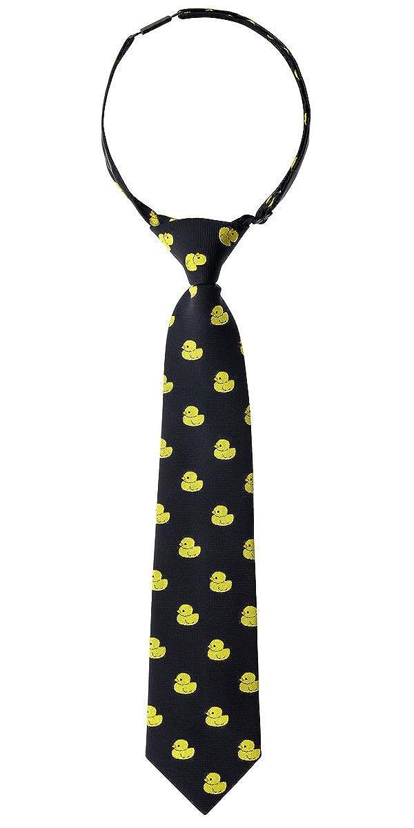 Retreez Classic Rubber Duck Woven Microfiber Pre-tied Boys Tie Various Colors