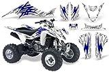 CreatorX Suzuki Ltz 400 Graphics Kit Decals Tribal Bolts Blue White
