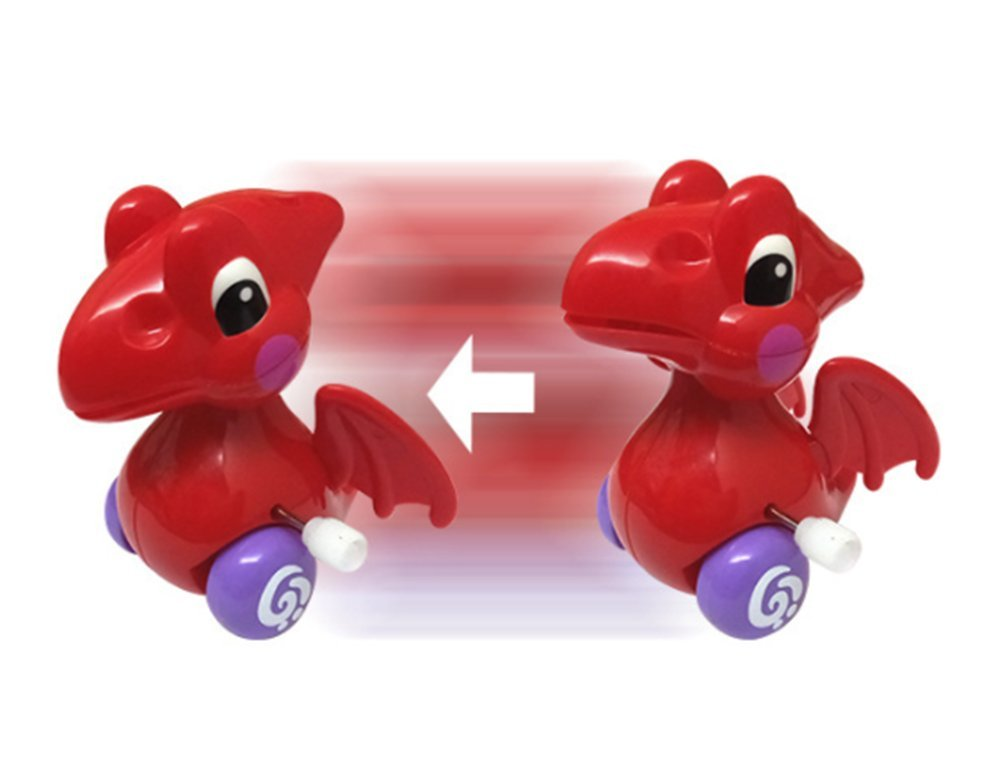 Buyby 1PC Wind Up Toys Kid Baby Toy Dragon 7.7*6.5*8.4cm