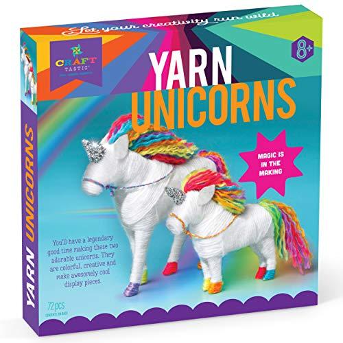 Craft-tastic - Yarn Unicorns Kit - Craft Kit Makes 2 Yarn-Wrapped Unicorns