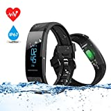 Fitness Tracker,ELEGIANT Smart Watch IP67 OLED Touch Screen Smart Bracelet with Heart Rate