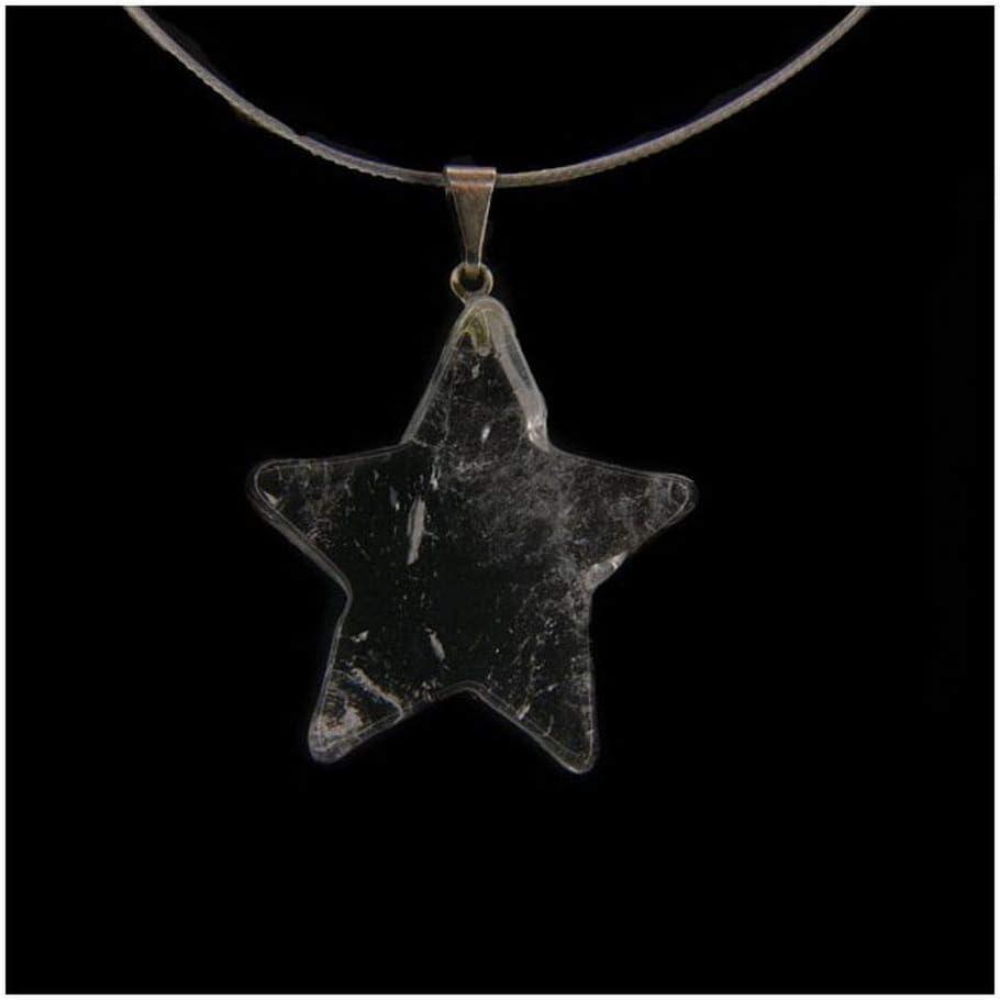 Colgante Estrella de Cuarzo Transparente Minerales y Cristales, Belleza energética, Meditacion, Amuletos Espirituales