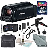 Canon Vixia HF R82 HD Camcorder Bundle w/ 32GB SD Card, Table Tripod, Camcorder Case, Cleaning Accessories, and Fibertique Cleaning Cloth