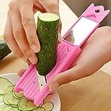 Cucumber Splicer, Creative Stainless Steel Peeler Parer Cutter Kitchen - Makeup Tool