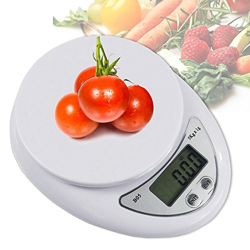 (Portable LCD Digital Kitchen Scale Travel Electronic Weight Food Weighting)