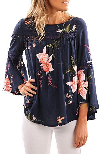 Coutgo Floral Trumpet Sleeves Irregular product image
