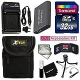 PRO 32GB Accessories KIT for SONY Cyber-Shot DSC-WX500, DSC-HX90V, DSC-WX350, DSC-WX300, DSC-HX50V, DSC-HX300