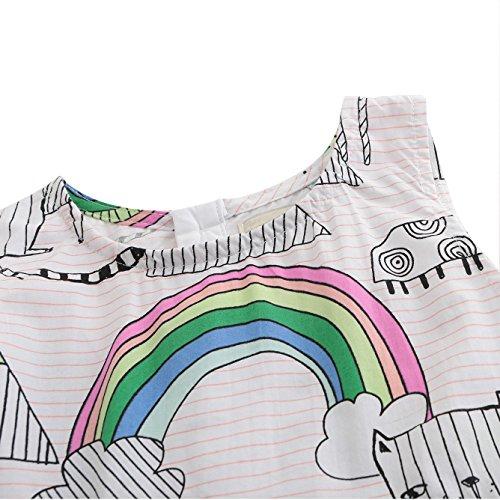 HowJoJo Girls Sleeveless Dresses Cute Cartoon Summer Skirt Dress 4T by HowJoJo (Image #2)