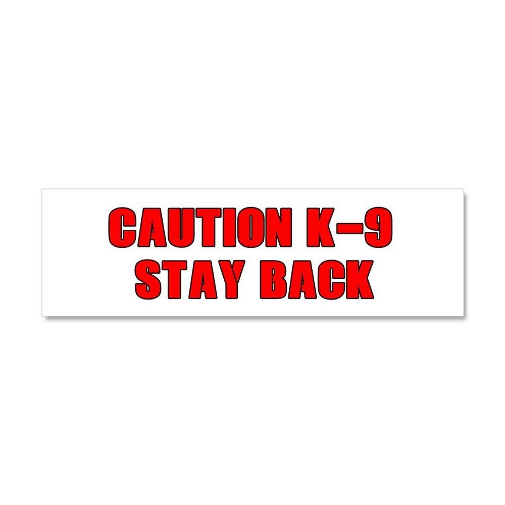 Amazon com cafepress caution k 9 stay back car magnet 10 x 3 car magnet 10 x 3 magnetic bumper sticker automotive