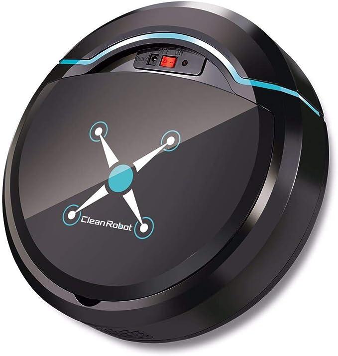 UKIA Robot Aspirador,Robot de Limpieza de Pisos,aspira y friega, con sensores anticaída, bateria ión-Litio de 150 ...