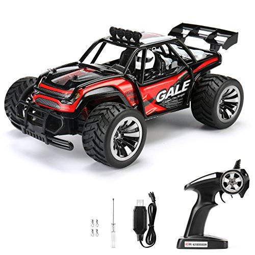 RC Car Remote Control Cars TOQIBO Electric Racing Car Off Road 1/16 Scale 2.4Ghz 50M 2WD High Speed Desert Buggy Vehicle Radio Controlled Monster Truck Rock Crawler Toy Car With 4 More Lock Catch -