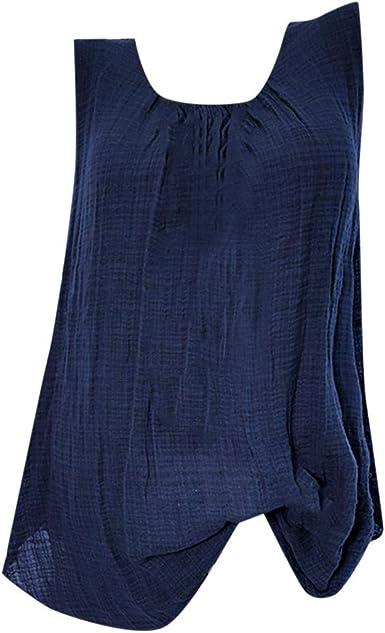 VECDY Blusas para Mujer Elegantes Tallas Grandes, Camiseta Sin ...