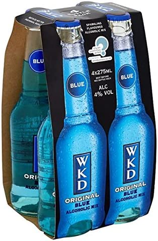 Wkd Original Blue Alcoholic Mix 4 X 275ml Pack Of 6 X 4x275ml Amazon Co Uk Beer Wine Spirits Marks remarks wkd blue vodka with mixed fruit drink review. wkd original blue alcoholic mix 4 x
