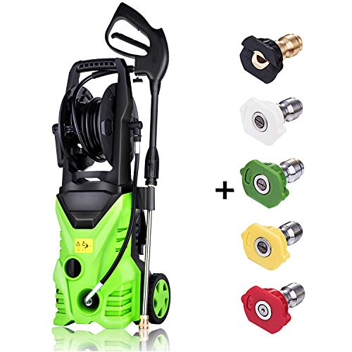 Schafter ST5 Pressure Washer, 3000 PSI Electric Pressure Washer 1800W Power Washer Rolling Wheels Pressure Washer, Hose Reel