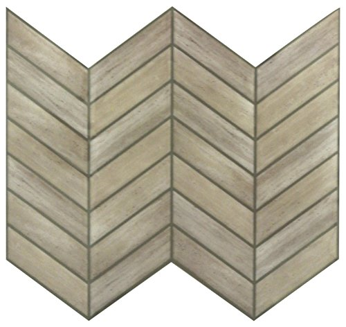 - RoomMates StickTILES Chevron Distressed Wood  Peel and Stick Backsplash Tiles- 4 Per Pack