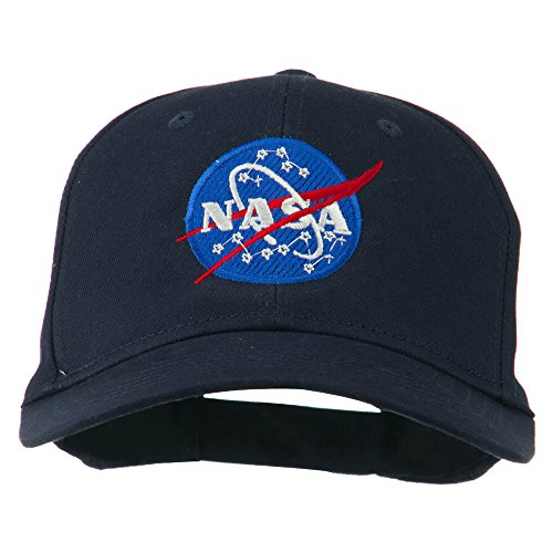 Navy Insignia Cap (E4hats NASA Insignia Embroidered Cotton Twill Cap - Navy OSFM)