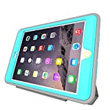 iPad Pro 12.9 case Leather, HEAVY DUTY EXTREME Protection / Rugged Slim Dual Layer Protective Cover With Standing 3 in 1 for iPad Pro 12.9 (2015) - Color (Light Blue)