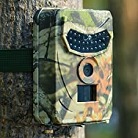 Trail Camera KUOOL 12MP 1080P Full HD Hunting Camera with Infrared Night Vision Waterproof Wildgame Innovations Trail Camera 26 Pcs IR LEDs 120° Wide Angle Game Cam for Wildlife Monitoring